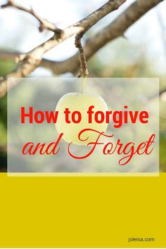 Here's my disclaimer to this post on forgive and forget to start off with: It is not easy, but it is so worth it!  Have you ever been hurt and hurt and hurt by the same person? Feels like torture, doesn't it? But the right thing to do is to forgive! The forgiveness part …