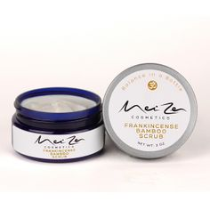 Frankincense Bamboo Scrub - $16.00 Our natural, luxurious Frankincense Bamboo Scrub uses gentle jojoba beads and bamboo stem powder along with fruit and sugar extracts (alpha hydroxy acids) to provide exfoliation.  http://www.meizencosmetics.com/frankincense-bamboo-scrub/