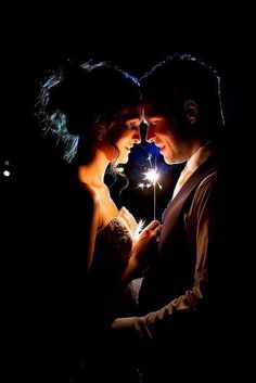 Unusual Sparkler Photo Ideas And Tips For Your Wedding ❤ See more: http://www.weddingforward.com/sparkler-photo-ideas-tips/ #weddings #weddingphotography