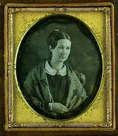Sweet-Faced Lady Wearing a Mourning Brooch, 1/6th-Plate Da… | Flickr