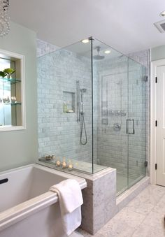 The whole thing, including subway tile in the shower
