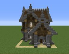 Small Medieval House 7 - GrabCraft - Your number one source for MineCraft buildings, blueprints, tips, ideas, floorplans! Minecraft Small House, Minecraft World, Minecraft Houses Xbox, Minecraft House Tutorials, Minecraft Houses Survival, Minecraft House Designs, Minecraft Houses Blueprints, Minecraft Crafts, Minecraft Stuff