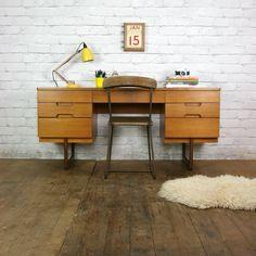 Vintage Teak Uniflex Desk Dressing Table