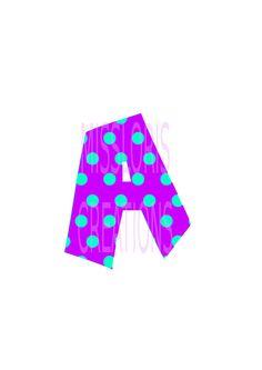 Polka dot Letter A monogram   SVG Cut file by MissLoriscreativecut