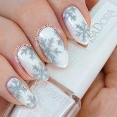 snowflakes by seizethenail  #nail #nails #nailart