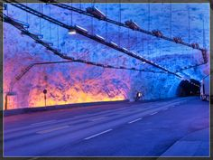 Laerdal Tunnel - longest road tunnel in the world at 15+ miles