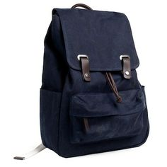 3bc1630995b I love my Everlane Navy Snap Backpack for carrying my laptop