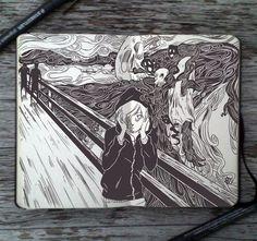 #87 The Scream by Picolo-kun on DeviantArt - Munch