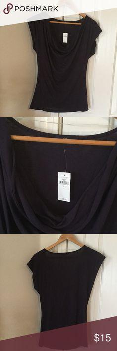 Gap Tshirt Gap cowl neck t-shirt in purple...55% cotton and 45% modal. GAP Tops Tees - Short Sleeve
