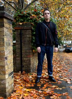 Seb from the Dr. Martens marketing team wearing 1461 PWs.