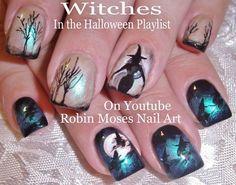 Halloween nail art  Robin Moses