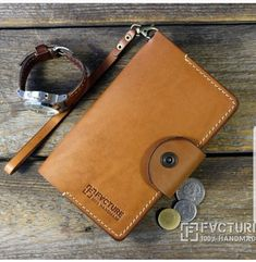 Authentic Genuine Leather Classic Wallet Gift For Him Pouch Card Holder Coin French Handmade Purse Woman Gift For Her Present