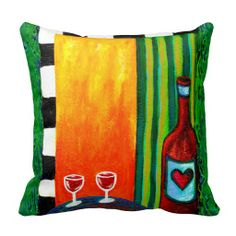 RedWine for Two Pillow