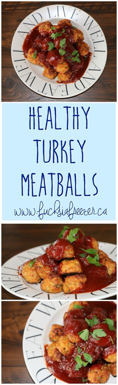 Simple Healthy Turkey Meatballs are perfect for big parties or for a weeknight dinner! Only 1SmartPoint per meatball, you can definitely indulge without feeling guilty!