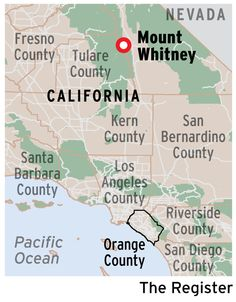 Where Is Mount Whitney On The California Map.14505 Things Whitney
