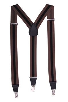 JINIU Men's Fashion Solid Straight Clip On Cool Formal Leather connector Elastic Suspenders Sale:$12.99 & FREE Shipping on orders over $49. FREE Returns. Details You Save:$37.00 (74%) Size: One Size Size Chart Color: Brown Stripe