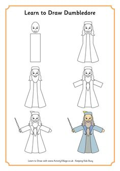 Learn to draw Dumbledore