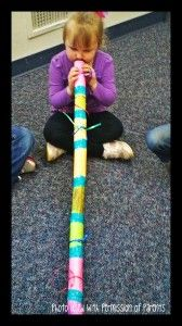 DIY Didgeridoos for kids using toilet paper rolls, colored paper, and duct tape. I would use wrapping paper tubes