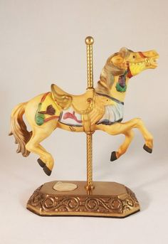 Porcelain Carousel Horse Tobin Fraley Willitts Designs 5042 Signed | eBay