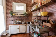 "It sounds so easy: ""Yeah, we'll just tear down the wall and expose the brick."" Here's what no one tells you about exposing brick in a kitchen or pantry. Find A Room, Renovation Budget, Pantry Makeover, Huge Windows, Old Bricks, Historic Homes, Victorian Homes, Kitchen Cabinets, Apartment Therapy"