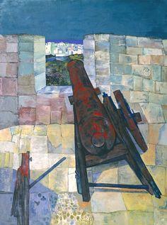 John Minton 'Portuguese Cannon, Mazagan, Morocco', 1953 © The estate of John Minton History Of Illustration, John Minton, Visit Morocco, Royal College Of Art, Art Uk, Cannon, Portuguese, Art Forms, Modern Art