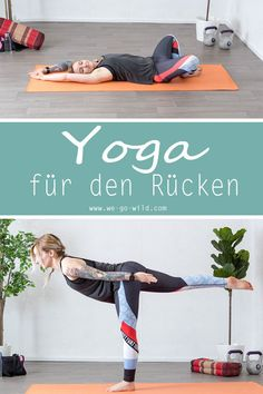 8 Yoga exercises for the lower back: workout for back pain - Lower back pain is uncomfortable. How back pain arises, what we do wrong every day and why yoga exe - Fitness Workouts, Fitness Herausforderungen, Fun Workouts, Pilates Workout, At Home Workouts, Asana, Hata Yoga, Diy Y Manualidades, Back Pain Exercises