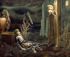 The Dream of Lancelot at the Chapel of the Holy Grail, Edward Burne-Jones (1896)