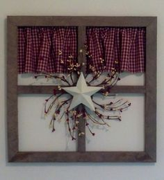 creative primitive country ladder hanging in the entry home dec