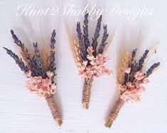 Image result for boutonniere lavender with pink