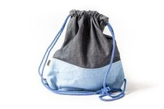 Washable paper COLOR sack with jeans Paper Sack, Sacks, Drawstring Backpack, Backpacks, Jeans, Color, Fashion, Moda, Fashion Styles
