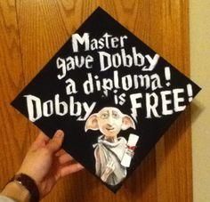 Harry Potter graduation cap - grad cap ideas - funny graduation caps