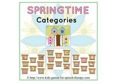 Springtime Categories - Pinned by @PediaStaff – Please Visit ht.ly/63sNtfor all our pediatric therapy pins