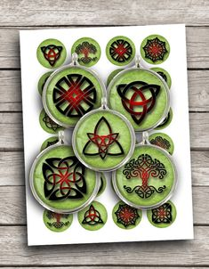 Celtic Knots Digital Collage Sheet 1 inch 1.5 by MobyCatGraphics