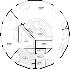 Deltec Homes- Floorplan Gallery Round House Plans, Tiny House Plans, House Floor Plans, Earthship Plans, Yurt Home, Octagon House, Earth Bag Homes, Custom Floor Plans, Geodesic Dome Homes