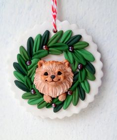 Pomeranian Christmas ornie by Raquel at the WRC hand by theWRC