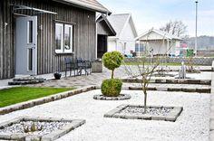 Sten, plantering och marmorkross