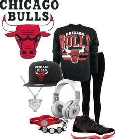 """""""CHICAGO BULLS !!!!"""" by gummiie-bear ❤ liked on Polyvore"""