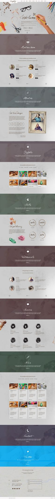 Craft&Go - Parallax OnePage Modern WordPress Theme http://themeforest.net/item/craftgo-parallax-onepage-modern-wordpress-theme/6073928?ref=wpaw #wordpress #web #design