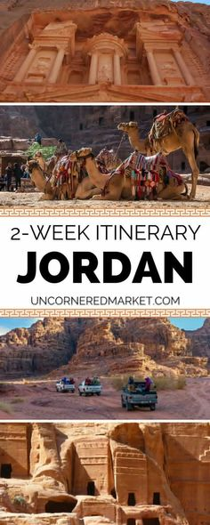 A 2-week itinerary to exploring Jordan. Best things to do and see including Petra, Wadi Rum, the Dead Sea, the capital city of Amman, the diving mecca of Aqaba   so much more. Travel in the Middle East. Uncornered Market Travel Blog.