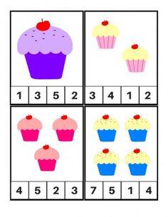Tarjetas para aprender los números, Motivos Cupcakes (2)