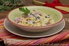 Spaghetti risottati philadelphia e pancetta http://blog.giallozafferano.it/studentiaifornelli/spaghetti-risottati-philadelphia-e-pancetta/