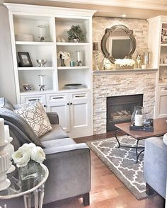 Good Saturday morning everyone! Supposed to be a very mild spring like day here and I can't wait to enjoy it!! I am so ready for spring!  Sharing a part of my family room for #bringspringhome. You can see my pops of flowers here and there.  Hope you all have a super day!  #familyroom #builtins #homesensecanada #springhassprung #potterybarn #quartzstone #inspiremehomedecor #inspire_me_home_decor #inspiredliving #decor @shabbychic.interiors #shabbychic