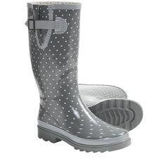 Chooka Classy Classic Buckle Rain Boots (For Women) in Charcoal