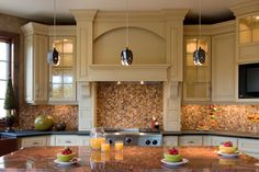Luxury Kitchen has the most gorgeous backsplash! Plan 013S-0009 | House Plans and More