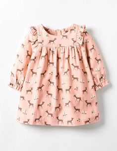 Buy the Patterned Ruffle Dress now for – with its sweet ruffles for extra prettiness, this dress is just made for big days out with the family. The long sleeves and full lining keep it oh-so cosy for baby (a must during chilly afternoons), and it Little Girl Dresses, Nice Dresses, Girls Dresses, Dresses Dresses, Simple Dresses, Little Girl Fashion, Kids Fashion, Latest Fashion, Fashion Trends