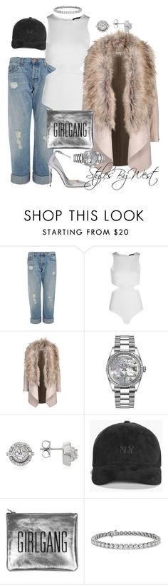 """""""Sweet Street"""" by ebony-west ❤ liked on Polyvore featuring J Brand, Boohoo, Rolex, Forzieri, Sarah Baily, Blue Nile and Jimmy Choo"""