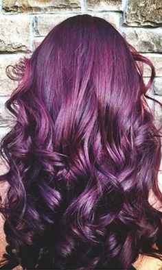 Need new hair color.Dark purple hair color is the perfect fashion air color for those with naturally dark blown hair. Dark Purple Hair Color, Deep Purple, Plum Colour, Dark Violet Hair, Burgundy Hair, Purple Ombre, Black Cherry Hair Color, Violet Hair Colors, Cherry Brown