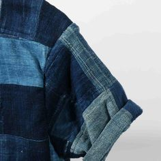 #shirt #patchwork #indigo #fashion #mode #style #blue #menswear