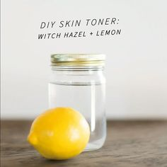 Creates a bright, even skin tone. Squeeze 1/4 c lemon juice  into 1/2 c Witch Hazel  apply liberally in circular motions with a cotton ball. Enjoy!