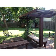 ....would love to install a pergola rather than keep the whole deck...
